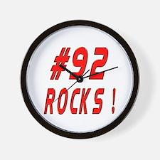 92 Rocks ! Wall Clock
