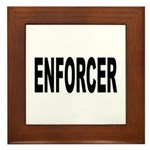Enforcer Law Enforcement Framed Tile