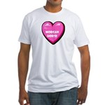 I Love My Morgan Horse Fitted T-Shirt