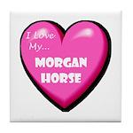 I Love My Morgan Horse Tile Coaster
