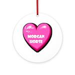 I Love My Morgan Horse Ornament (Round)