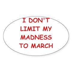 madness Sticker (Oval 10 pk)