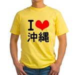 I Love Okinawa Yellow T-Shirt
