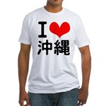 I Love Okinawa Fitted T-Shirt