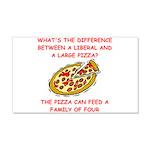 liberal joke 22x14 Wall Peel