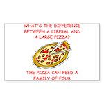 liberal joke Sticker (Rectangle 50 pk)