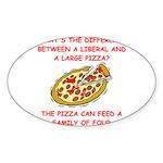 liberal joke Sticker (Oval 10 pk)