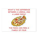 liberal joke Postcards (Package of 8)