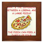 liberal joke Framed Tile