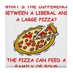 liberal joke Tile Coaster
