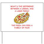 liberal joke Yard Sign