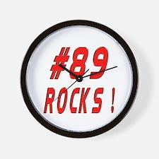 89 Rocks ! Wall Clock