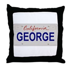 California George Throw Pillow