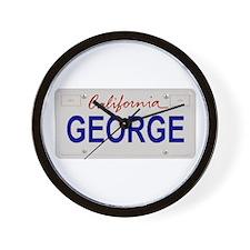 California George Wall Clock