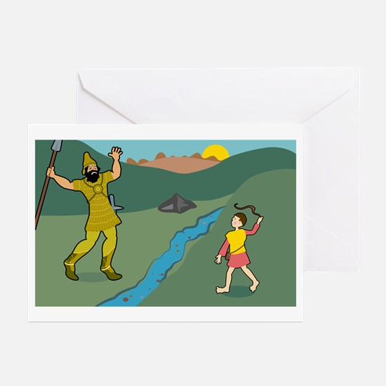 David and Goliath Greeting Cards (Pk of 10)