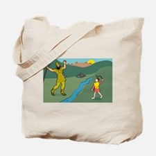David and Goliath Tote Bag