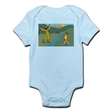 David and Goliath Infant Creeper