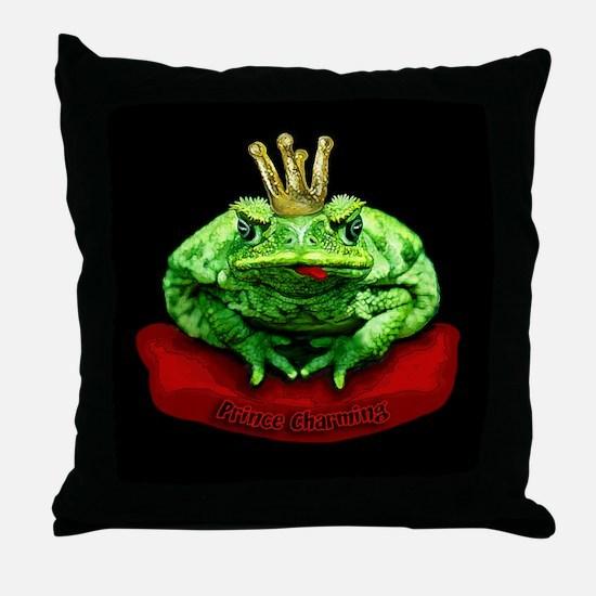 Prince Charming Frog Throw Pillow