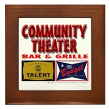 Community Theater Bar and Grille Framed Tile