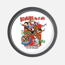 Beagles Do It All Wall Clock