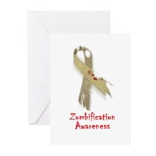 Zombification Awareness Greeting Cards (Pk of 10)