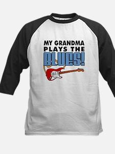 My Grandma Plays The Blues Kids Baseball Jersey