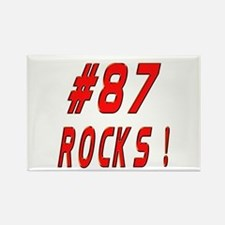 87 Rocks ! Rectangle Magnet