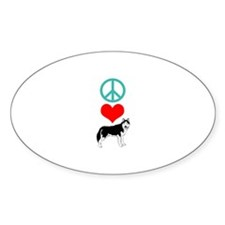 Peace Love Husky Decal