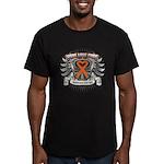 Hope Love Cure Leukemia Men's Fitted T-Shirt (dark