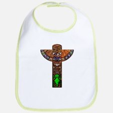 OiJbwe Indian Totem Pole Bib