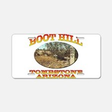 Boot Hill Aluminum License Plate