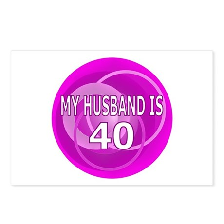 My Husband Is 40 Postcards (Package of 8)