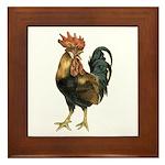Rooster Chicken Framed Tile
