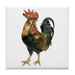 Rooster Chicken Tile Coaster