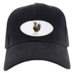 Rooster Chicken Black Cap