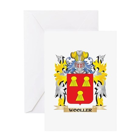 Wooller Family Crest - Coat of Arms Greeting Cards