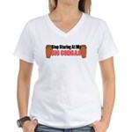 Stop Staring At Big Congas Women's V-Neck T-Shirt