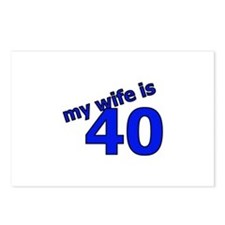 My Wife Is 40 Postcards (Package of 8)