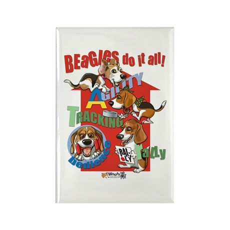 Beagles Do It All Rectangle Magnet