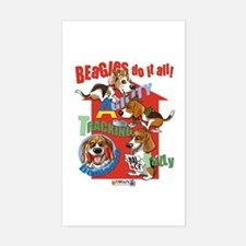 Beagles Do It All Decal
