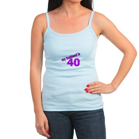 Funny Husband Is 40 Gifts Jr. Spaghetti Tank