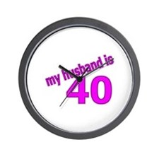 Funny Husband Is 40 Gifts Wall Clock