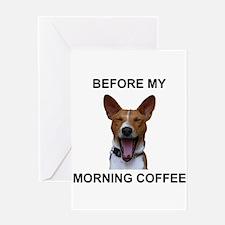 Coffee Yawn Greeting Card
