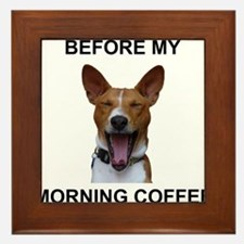 Coffee Yawn Framed Tile