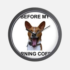 Coffee Yawn Wall Clock