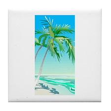 At The Beach Tile Coaster