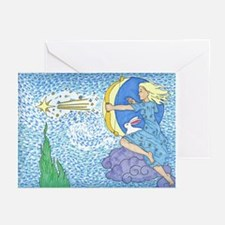 Unique Rabbit moon Greeting Cards (Pk of 10)
