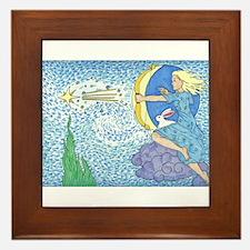 Funny Moon star Framed Tile