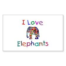 I Love Elephants Decal