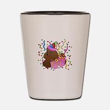Poodle Shot Glass